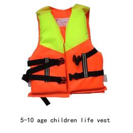 Child Sports Swimwear Canada - Wholesale- for child 2016 Kids Life Jacket life Vest Child PFD 5-10 Years Old Boy Girl Swiming Life Safety Water Sports swimwear aid vest