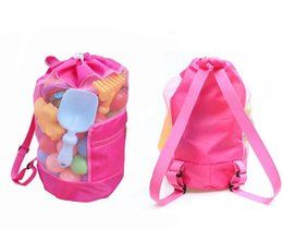 mini mesh bags 2019 - 100pcs 2017 New Beach Mesh Bags Sand Away Collection Toy Bag Storage For Sea Shell Kids Children Tote Organizer 2colors
