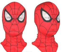 Wholesale Cosplay children and adult Spiderman mask Spider Man Gloves Cosplay Halloween Party Supplies