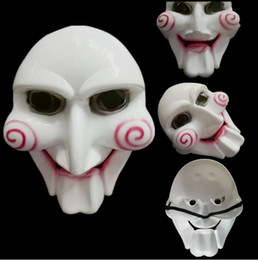 scary puppets Australia - Unisex Saw Puppet Mask Horror Scary For Halloween Cosplay Costume Clown Doll Fun