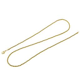 Марка DIY цепи Ожерелье для кулон мужчины / женщины ювелирные изделия золотой цвет нержавеющей стали 3 мм витая веревка цепи Оптовая