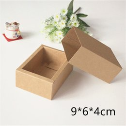 $enCountryForm.capitalKeyWord NZ - 100pcs 9*6*4cm Kraft Drawer Box Handmade Soap Gift Craft Candy Cosmetic Bottle Packaging Brown Paper Boxes