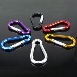 Wholesale Carabiner Clip Ring Keyrings Key Chain Outdoor Sports Camp Snap Hook Keychains Hiking Aluminum Metal Stainless Steel Camping Gadgets