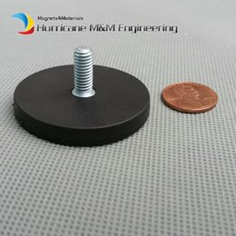 $enCountryForm.capitalKeyWord NZ - 100 pcs Mounting Magnetic Disc in Rubber Diameter 43mm LED Light Holding Spotlight Holder Male Thread NdFeB Magnet Strong Neodymium Magnet
