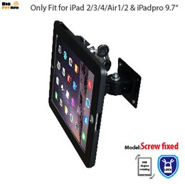 China for iPad wall mounting for iPad tablet display stand holder brace wall mount holder for ipad 34 air A plurality of angles stand cheap aluminium display stands suppliers