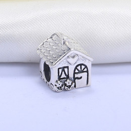 Animals Families Canada - Wholesale Real 925 Sterling Silver Not Plated Family Home European Charms Beads Fit Pandora Snake Chain Bracelet DIY Fashion Jewelry