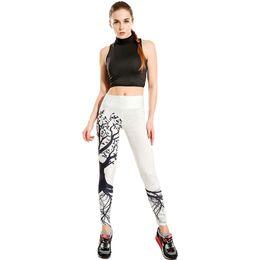Chinese  Wholesale- LOVE SPARK New Design Flash Drying Wishing Tree Leggins Fitness Women White Yoga Pants High Elastic Sports White Leggings manufacturers