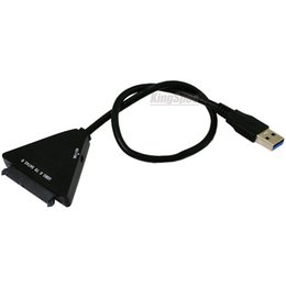 China Wholesale- Factory price USB 3.0 to for SATA 7+15 Pin SATAIII 3.0 Adapter Cable for 2.5' '3.5'' HDD SSD hard disk Laptop Hard Drive SSD cheap laptops for wholesale prices suppliers