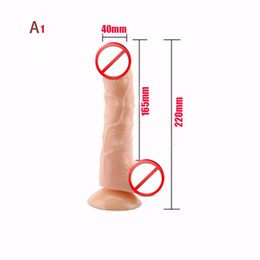 realistic flexible dildos Canada - Realistic Big Dildo Silicone Flexible penis Dick with strong suction cup huge dildos cock adult sex products sex toys for women