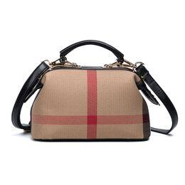Nouveau mode en cuir Boston sacs femmes sacs à main à carreaux dames sacs à bandoulière Crossbody sacs pour les femmes sac a principale femme de marque