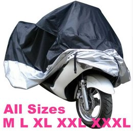 Wholesale 2020 All size Black Silver Color Motorcycle Cover Waterproof Outdoor UV Dust Protector Rain Dustproof Cover for Motorcycle Scooter