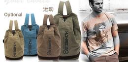 $enCountryForm.capitalKeyWord Australia - Canvas leisure backpak fashion outdoor handbags bucket rucksack bag students satchel basketball stylish backpack