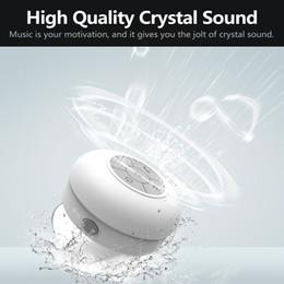 Car Radio Built Speaker Canada - 2016 High quality waterproof bluetooth speaker sucker,car wireless speakers,handsfree speaker box ,bathroom speaker