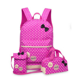 $enCountryForm.capitalKeyWord Canada - School Bags for Teenagers Girls Schoolbag Large Capacity Ladies Dot Printing School Backpack set Rucksack Bagpack Cute 3pcs