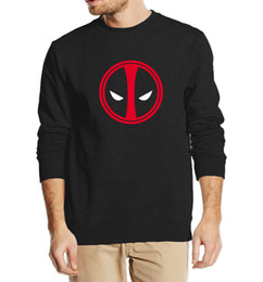 Chinese  Wholesale-Deadpool Costume X-men autumn winter men sweatshirt 2016 new fashion hip hop style hoodies streetwear tracksuit clothing manufacturers