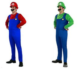 Super Mario Bros Cosplay Costume Pas Cher-Adulte <b>Super Mario Bros Cosplay Costume</b> Ensemble Enfants Halloween Partie MARIO LUIGI Costume CO22110123