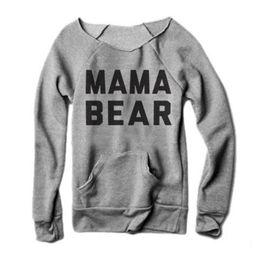 bd0d47c022d Wholesale- Vessos Women Female T-Shirts Tops Fashion Girls Long Sleeves  Letters Mama Bear Printing O-Neck Tee T-Shirt Top Harajuku Tumblr