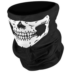 Chinese  Wholesale-Halloween Skull Skeleton Party Masks Black Motorcycle Multi Function Headwear Hat Scarf Neck Scary Sport Face Winter Ski Mask manufacturers