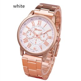 Stainless Steel Unisex Luxury Watches Canada - Luxury Geneva Watch Stainless Steel Quartz Analog Roman Numerals Wristwatch Fashion Men Women Unisex Casual Watches Students Gift Watch