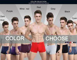 $enCountryForm.capitalKeyWord Canada - HOT Sale Solid Bamboo Fiber Shorts Men Underwear Boxers Men's Boxer Modal Sexy Mens Boxer Shorts 8 Colors L-XXXL Wholesale
