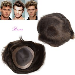 China Wholesale-100% Indian remy human hair men toupee monofilament with NPU around 7x9 inch Replacement Systerm Human Hair Piece cheap monofilament human hair wigs suppliers