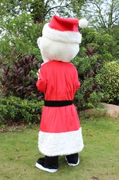 $enCountryForm.capitalKeyWord Canada - Santa Claus mascot costume free shipping, cheap high quality carnival party Fancy plush walking Christmas mascot adult size.