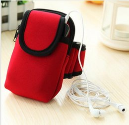 Plain Red Cell Phone Case Canada - Outdoor sport phone arm bag bike cycling phone waterproof armband case yoga exrecise phone pouch running jogging cell phones cover