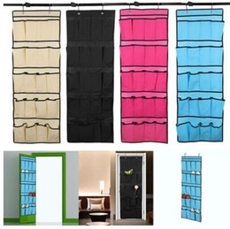 over door storage organizer Canada - Top selling 20 Pocket Non-woven Fabric Over the Door Shoe Organizer Space Saver Rack Hanging Storage Hanger FREE SHIPPING