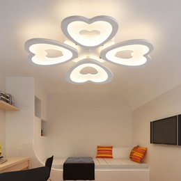 Modern LED Ceiling Lights For Living Room Bedroom Lamp Acrylic Heart Shape Lighting Home Decor