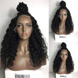 $enCountryForm.capitalKeyWord Canada - Cheap Full Density Long Kinky Curly Full Lace Wig Virgin Indian Lace Front Wig Kinky Curly Human Hair Wigs For Black Women