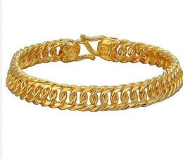 $enCountryForm.capitalKeyWord UK - Pure 14K Yellow Gold Bracelet   3D Men Fashion Boss Chain Bracelet   9g