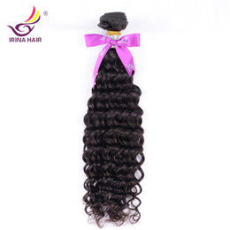 Discount maylasian weft hair - 2017 new arrival Malaysian Virgin Hair deep curly Thick Peruvian Brazilian Malaysian deep curly 1Bundle Maylasian free s