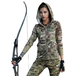 China SINAIRSOFT Women Camouflage Softshell Jacket Long Sleeve Hooded Tactical Urban Camo for Jogging Running Ski Hiking Hunting Jackets Sports cheap hunting camouflage jacket suppliers