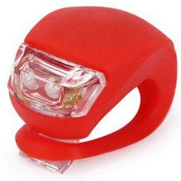 Großhandel LED Blitz Silikon Fahrrad Radfahren Kopf Vorne Hinterrad Licht Lampe 20 Teile / los