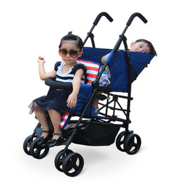 Fashion baby strollers online shopping - Fashion Light Stroller for Two Kids Stroller Twins Twins Stroller Double Seat Baby Jogger Lightweight Folding Pushchair Can Sit Can Lie
