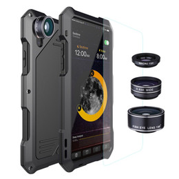 $enCountryForm.capitalKeyWord UK - Aluminum Metal Case With Camera Angle Lens Micro-lens Fish eye for iPhone X Full Body Dust-proof Waterproof Drop Resistance Cover