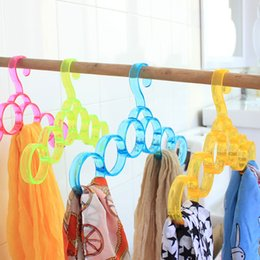 $enCountryForm.capitalKeyWord Canada - 6 Circles Functional PP Hangers for Clothes Scarf Tie Belts Jewelry Storage Hanger Colorful Hanger