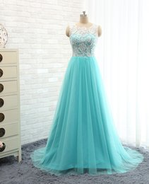 Barato Botões Verdes Baratos-Real Photo Sage Prom Dresses Long Lace Prom Dress 2017 Com Botões Mint Green Evening Gown Formal Party Gown vestido de festa