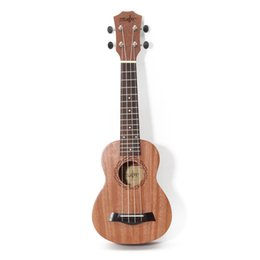 Hawaiian Guitar NZ - 21 inch 15 Frets Mahogany Soprano Ukulele Guitar Uke Sapele Rosewood 4 Strings Hawaiian Guitar for beginners or Basic players
