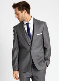 $enCountryForm.capitalKeyWord Canada - 2017 Simple Fashion Grey Suits Best Man  Groomsmen Wedding Tuxedos Business Men Office Work Wear (Jacket+Pants+Vest+Tie)
