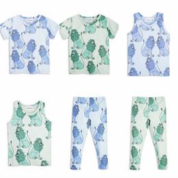 $enCountryForm.capitalKeyWord Canada - Kids Boys Girls Short Sleeve T-Shirts Long Pants Lion Printed Cotton Vest + Leggings Children Summer Clothes Sets
