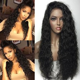 $enCountryForm.capitalKeyWord NZ - Brazilian Wet and Wavy Full Lace Human Hair Wigs For Black Women Glueless Water Wave Lace Front Wigs With Baby Hair