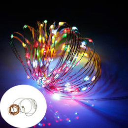 String Light Switch NZ - Wholesale- led string lights 10M 100 LED USB Copper Wire with on off Switch Christmas Holiday Decoration Wedding Party Fairy Garland Lights