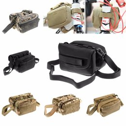 bike panniers green Canada - Waterproof Pannier Molle Bike Front Tube Utility Shoulder for outdoor game