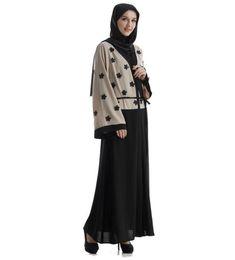 China 2017 Fashion Muslim Adult Embroidery Abaya Arab Turkey Middle East Fashion Cardigan Dresses Musical Robe Ramadan cheap black turkeys suppliers