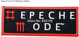 """$enCountryForm.capitalKeyWord NZ - 4"""" Depeche Mode Band Name Logo Electronic Music Band Heavy Metal Iron On Patches For Clothing MOTIF APPLIQUE Rock Punk Badge"""