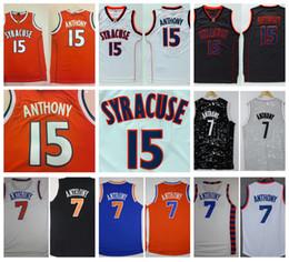 d735aeb79 Syracuse Orange Camerlo Anthony College Basketball Jersey 15 Camerlo Anthony  Grey White Stitched ...