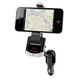 $enCountryForm.capitalKeyWord Australia - Bluetooth FM Transmitter Car Kit Phone Mount Holder Bracket Cellphone for iphone Samsung Stand With Handsfree Call Car charger
