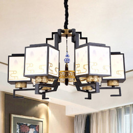 Black chinese lanterns online shopping - Chinese style led chandelier lights lantern Chinoiserie personalized classic decorative led chandeliers lighting pendant lamps project