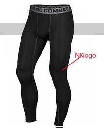 Fitness gyms online shopping - Original brand men pro combat Athletic sport skinny compression Basketball training legging gym track tight pants fitness
